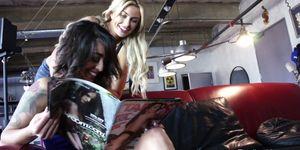 Hot Lesbian Threesome Porn Videos