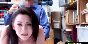 A clueless shoplifter chick gets fucked hard by a cop