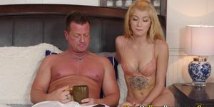 Inked Stepdaughter Sucks and Gets Plowed