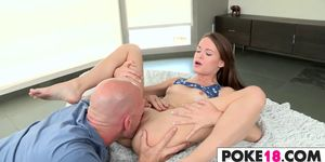 Rock Hard Dick For Petite Cutie Kaci Lynn