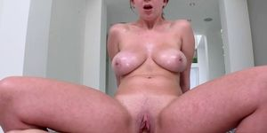 Cock Busting Her Perky Tits
