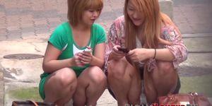 Chicas amateur japonesas filmadas por voyeur astuto
