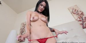 Tattooed babe fingered before fucking cock