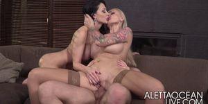 Threesome With Aletta Ocean Alettaoceanlive