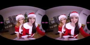 18VRcom Squirting 3some Xmas Gift With Jenny And Linda
