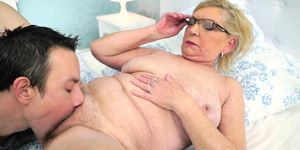 Granny gets pounded after stripping down