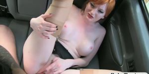 Horny redhead passenger banged by driver Porn Videos