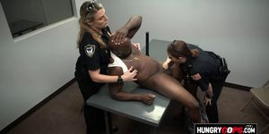 Car thief is contrived by horny milf cops