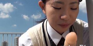 XXX JAPAN TV - Japanese beauty loves dildo inside of her little pussy