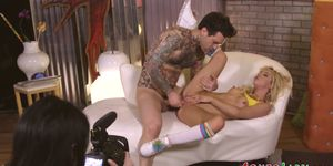Gonzo director babe fingers teen in pov