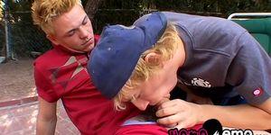 Jeremiah Johnson y Casey Wood, sesión de sexo al aire libre