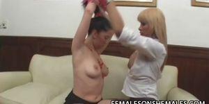 Sheina and Ire - Shemale Boss Fucks Her Bitchy Secretary