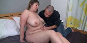Can he score with sexy brunette BBW