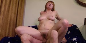 Older Babe Is Happy To Ride Him Passionately