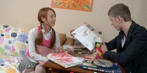 Asian dutch teen redhead eaten out