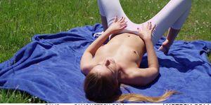 Alexis Crystal Erotic Yoga with Czech Teen