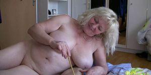 OldNannY Bohunka Threesome Blowjob Mature Action