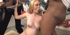 Interracial pregnant fuck blowjob