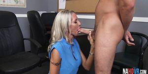 Big Tits Blonde MILF Boss Fucks Intern Emma Starr
