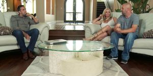 Sexy blonde MILF Briana Banks wants to be a pornstar