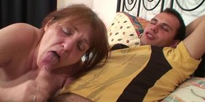 Guy picks up and fucks her old hairy cunt