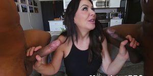 Busty mom Sasha Sean rammed by two huge black cocks