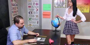 Teen student gets rimjob