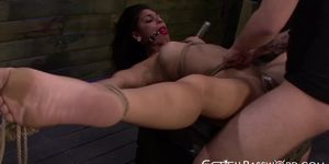 Beautiful Valentina toyed and dominated with no mercy