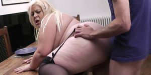 Busty fat ass blonde secretary pleases boss
