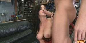 Hot Brunette Jayden Jaymes DeepThroats A Big Cock!