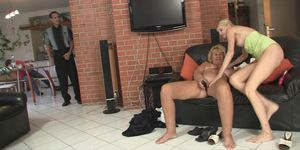Blonde mother-in-law and dad fuck her