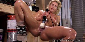 Blonde double penetration fucking machine