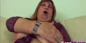 chubby granny takes big young cock