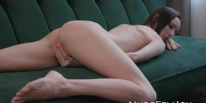 NUDE FEMJOY - Petite babe Adel Morel plays with herself sensually solo