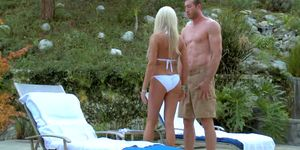 Dominant Russian MILF Diana Doll test fucks her new pool boy