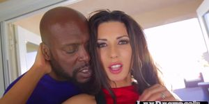 Brunette Alexa Tomas incites a hard interracial sex