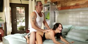 Stepdaughter Fulfills Fantasy with Stepdad