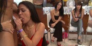 OMG my ex-wife caught throating black stripper