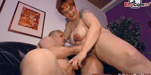 EROCOM.TV - german chubby normal housewife next door try porn