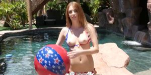 TINY4K - Patriotic Pussy Pounded For 4th Of July