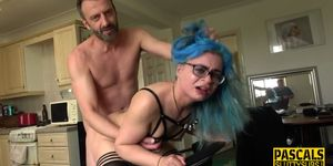 Teen submissive throated and pounded