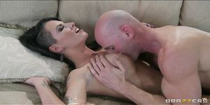 HOT tattooed brunette Christy Mack is fucked to orgasm