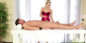 Sensual massage cumshot
