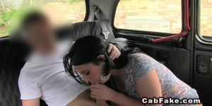 Shaved cunt amateur bangs in cab