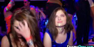 Cfnm sluts take party facials