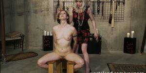 Femdom Lesbian BDSM Action With Toys And Props