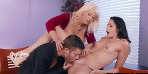 Alura Jenson turn to ride Dylan Snows cock