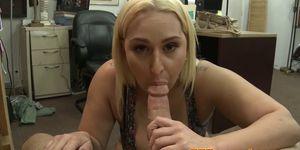 POV cocksucking pawnee gets cum in mouth