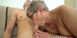 Naughty granny Jessye pounded hard by Jason Storms hard stick