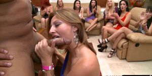 CFNM beauty dicksucking at kinky party